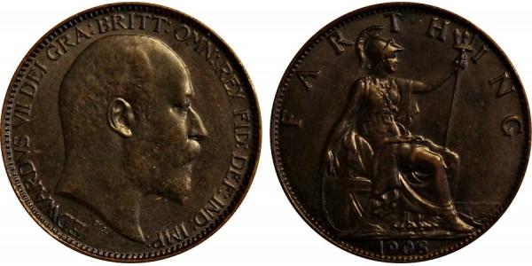 Edward VII, Bronze Farthing. 1903