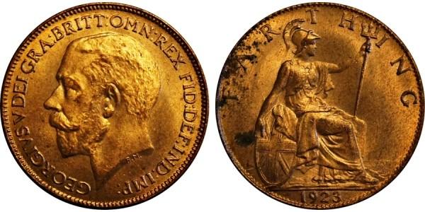 George V. Bronze Farthing 1923.
