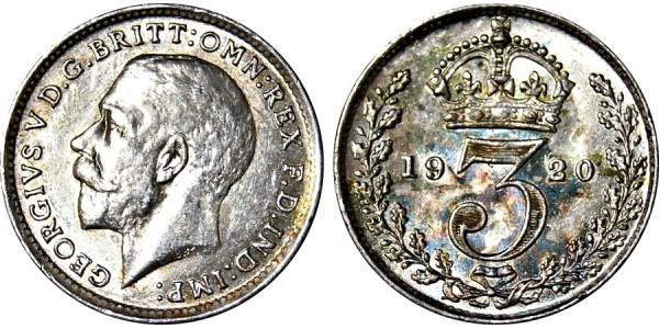 George V. Silver Threepence. 1920.
