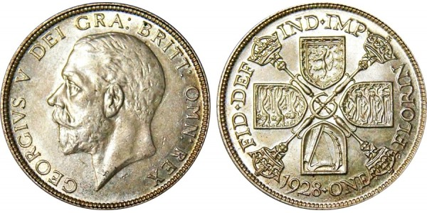 George V. Silver Florin.