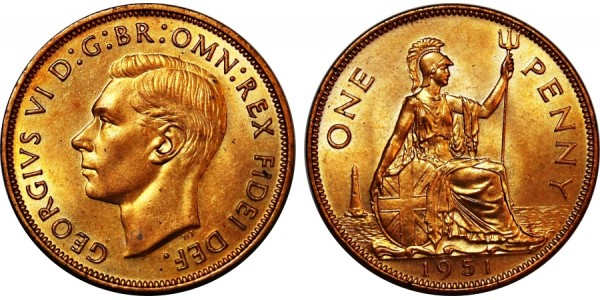 George VI. Proof Halfpenny. 1937.