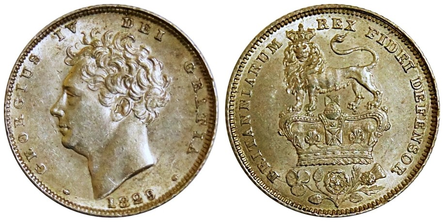 George IV, Silver Sixpence. 1829.