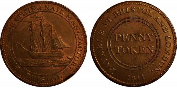 Bristol. S. Guppy's Halfpenny. 1812. W. 513.