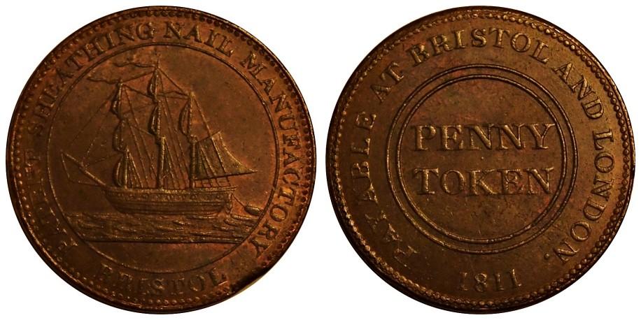 Bristol.  Guppy's Halfpenny Token. 1811. W. 513.