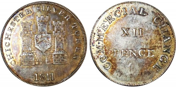 Sussex. Chichester. Silver Shilling. 1811. D 11