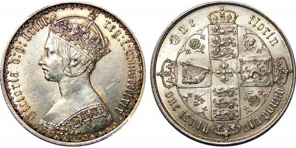 Victoria, Silver Florin 1869.