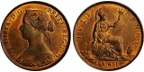 Victoria, Copper Halfpenny. 1861. F. 270.