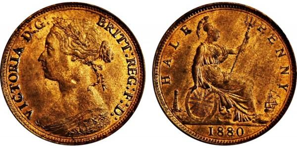 Victoria, Bronze Halfpenny. 1880. F. 340.