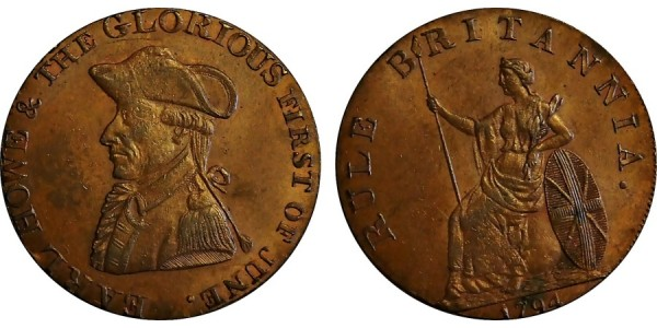 Hampshire. Emswoth Halfpenny. 1794.