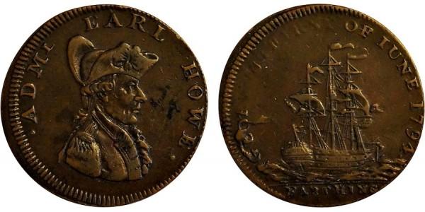 Hampshire. Southampton Farthing. 1794. DH 103.