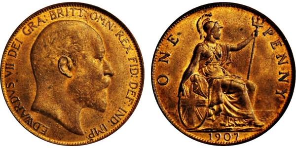 Edward VII. Penny. 1907