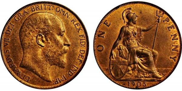 Edward VII. Penny. 1905.