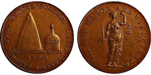 Ireland. Dublin. Fyan's Halfpenny. 1794. DH 308
