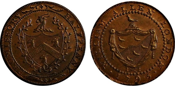 Middlesex. Allen's Halfpenny. 1795. DH 246A.