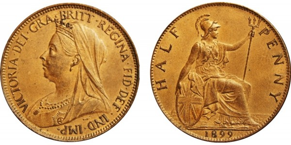 Victoria, Bronze Halfpenny, 1899