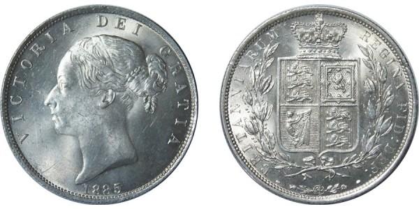 Victoria, Silver Half-crown, 1885