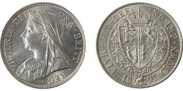 Victoria, Silver Half-crown 1897