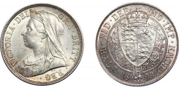 Victoria, Silver Half-crown 1899