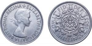 Elizabeth II, Cupro-nickel Florin, 1953