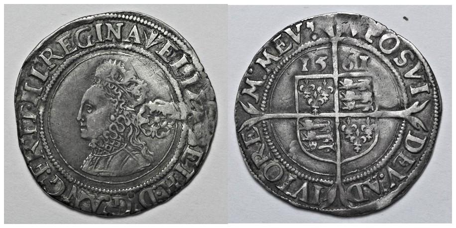 Elizabeth I, Silver Sixpence, 1561