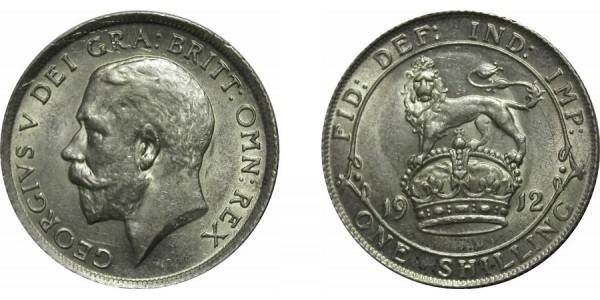 George V. Silver Shilling. 1912