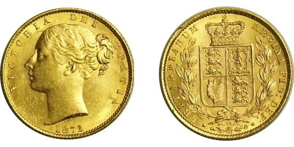 Victoria, Gold Sovereign.1872.