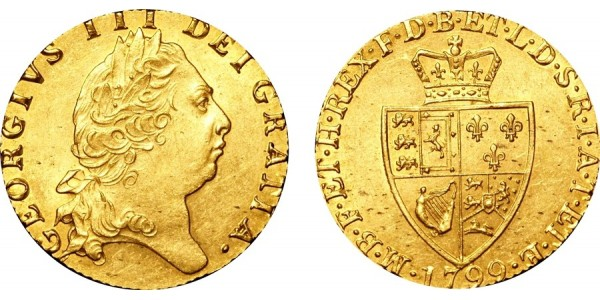 George III, Gold Spade Guinea, 1799
