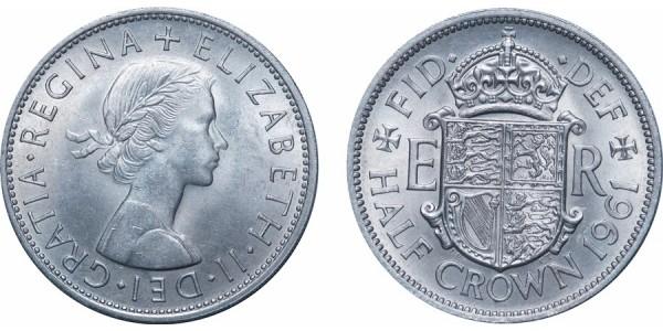 Elizabeth II, Half-crown. 1961