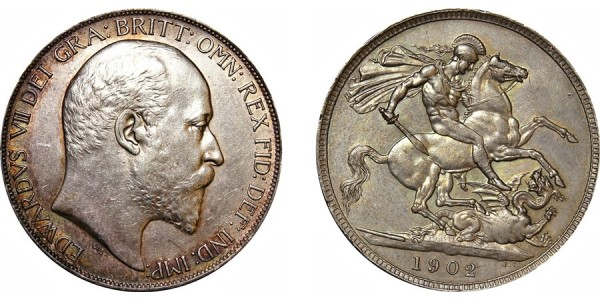 Edward VII, Silver Crown, 1902.