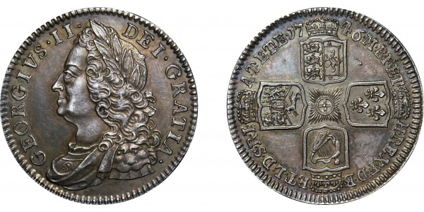 George II, Silver Proof Shilling, 1746