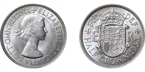 Elizabeth II, Half-crown. 1953