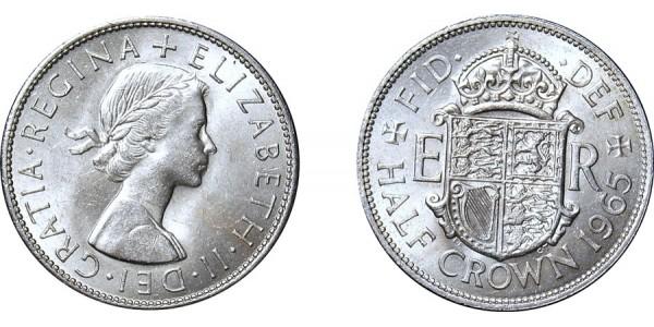 Elizabeth II, Half-crown. 1965