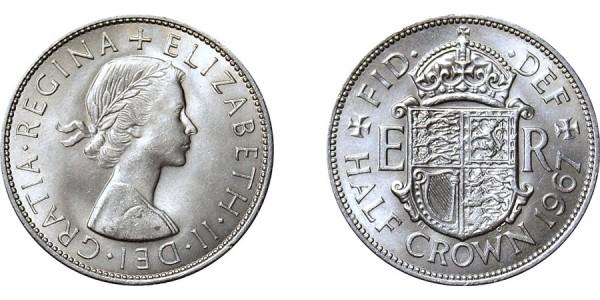Elizabeth II, Half-crown. 1967