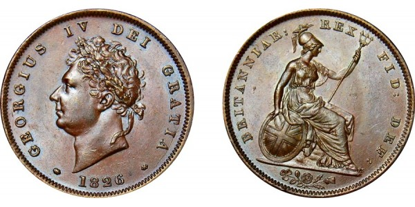 George IV, Copper Penny, 1826