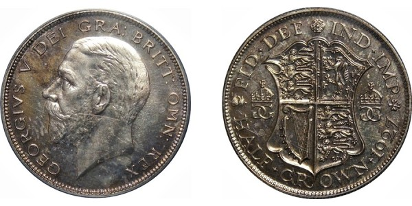George V, Silver Proof Half-crown, 1927
