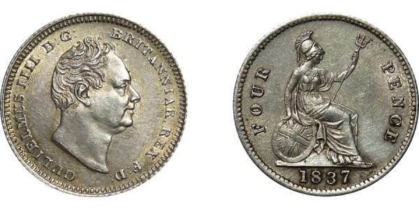 William IV, Silver Groat, 1837