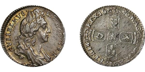 William III, Silver Sixpence, 1696