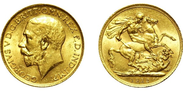 George V, Gold Sovereign, 1912