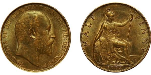 Edward VII, Bronze Halfpenny, 1903