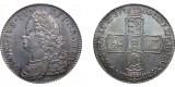 George II, Silver half-crown, 1750