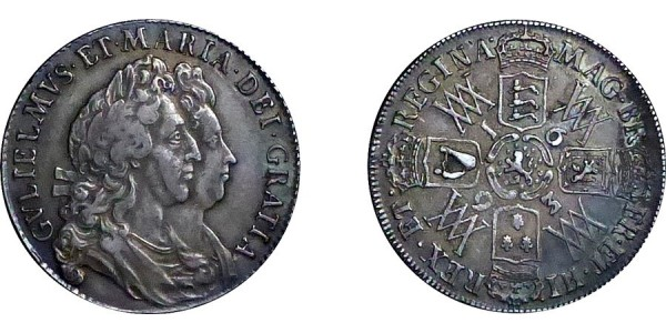 William and Mary, Halfcrown, 1693.