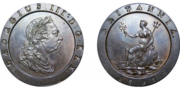 George III, Copper Twopence, 1797