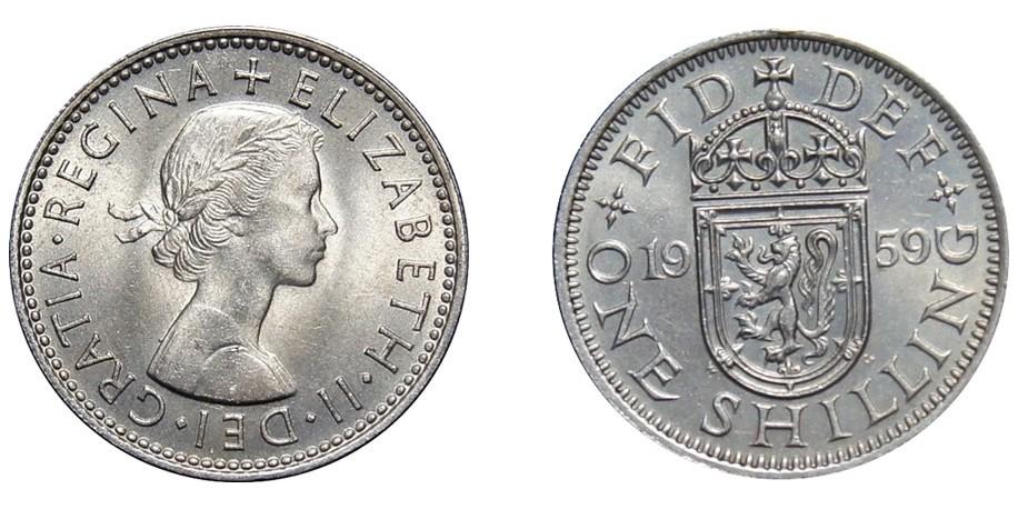 Elizabeth II, Scottish Shilling, 1959.