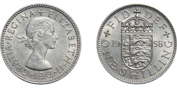 Elizabeth II, Scottish Shilling, 1958.