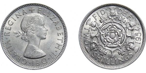 Elizabeth II, Florin, 1954