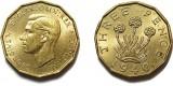 George VI, Brass Threepence. 1940