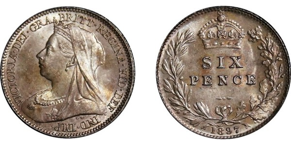 Victoria, Silver Sixpence, 1897