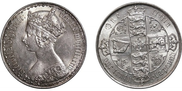 Victoria, Gothic Silver Florin 1884