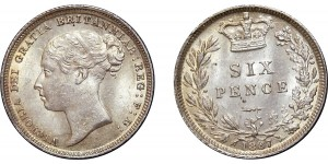 Victoria, Silver Sixpence, 1887
