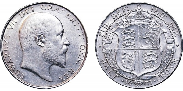 Edward VII, Silver Half-crown, 1907